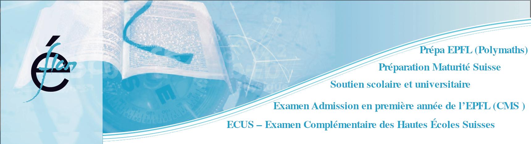 Examen d'Admission à EPFL | Cours de Mathématiques Spéciales (CMS)